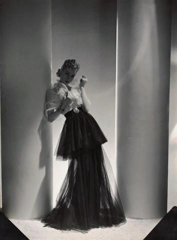 Woman Wearing Mainbocher Dress