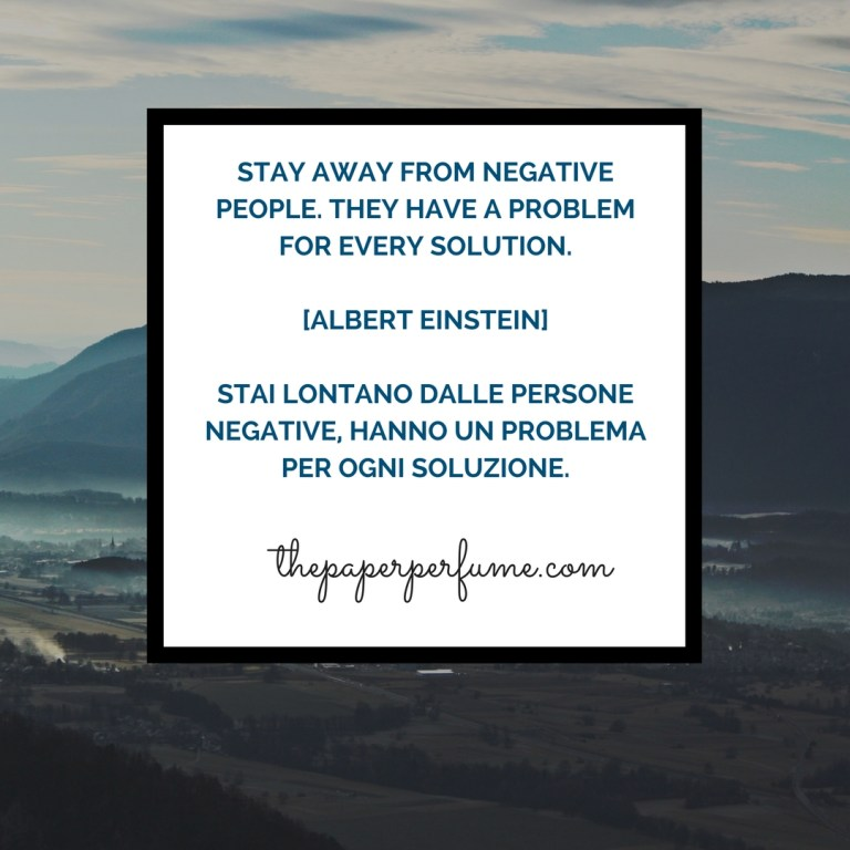 Stay away from negative people...
