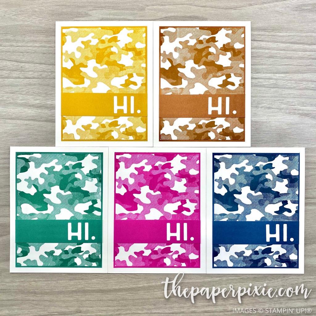 Camouflage Playful Alphabet Card