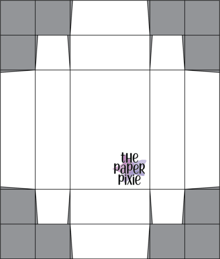 This is a template created by the Paper Pixie to go along with the video tutorial to assist you in making the Storybook Treat Box.