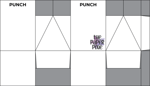 This is a template created by the Paper Pixie to go along with the video tutorial to assist you in making the Treat Box.