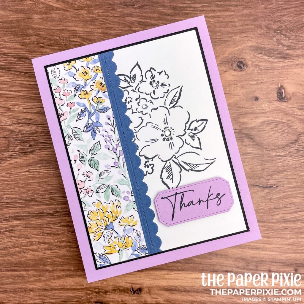 This is a handmade card made with the Hand Penned Petals Stampin' Up! product suite and the sentiment says thanks.