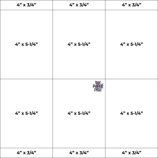 This is a template created by the Paper Pixie to go along with the video tutorial to assist you in making the One Sheet Wonder card set.