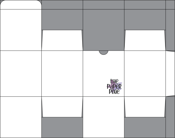 This is a template created by the Paper Pixie to go along with the video tutorial to assist you in making the Gift Box.