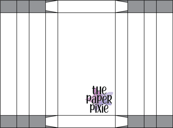 This is a template created by the Paper Pixie to go along with the video tutorial to assist you in making the Treat Holder.
