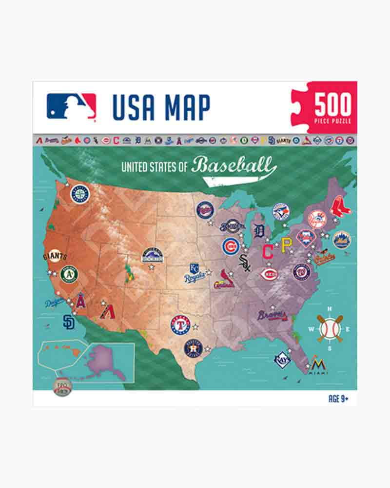 Baseball Team Map : baseball, Masterpieces, Puzzle, Company, Jigsaw, Paper, Store