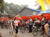 There are a million rickshaws waiting to take you around the Hutong area