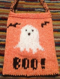 knit boo candy bag