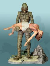 model creature with female