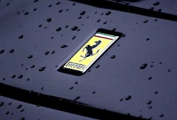 Ferrari wet.