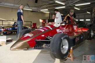 David Vincent preparing his  #73 Formula 500 machine on Sunday morning.