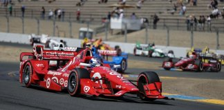 Scott Dixon exits the Turn 9/9A chicane complex during the GoPro Grand Prix of Sonoma -- Photo by: Shawn Gritzmacher