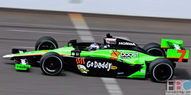 Danica Patrick during final practice on Carburetion Day for the 2010 Indianapolis 500 Mile Race. -- Photo by Doug Patterson