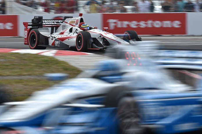 Sebastien Bourdais rolls into Turn 1 during the 2017 Firestone Grand Prix of St. Petersburg -- Photo by: Chris Owens, INDYCAR
