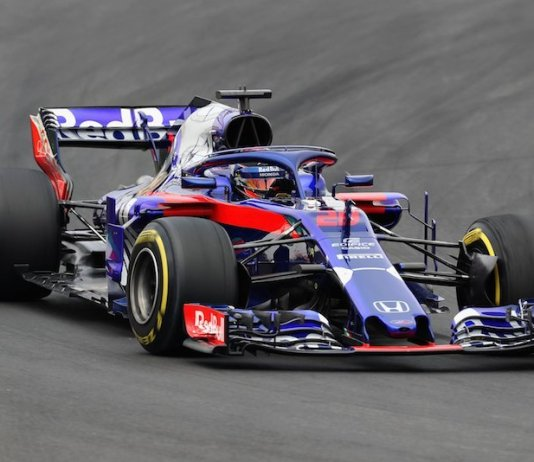 Scuderia Toro Rosso's application of the halo system.