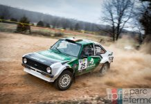 Burke/Brady in their 1977 Ford Escort Mk2