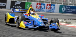 Alexander Rossi in Turn 6 at Long Beach