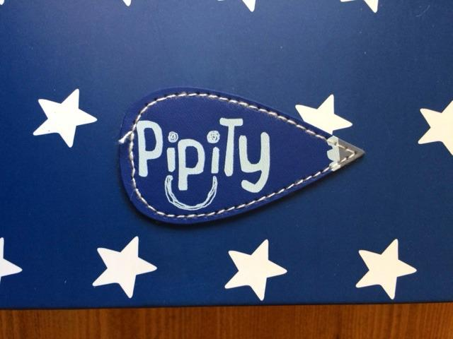 Blue case with pipity logo
