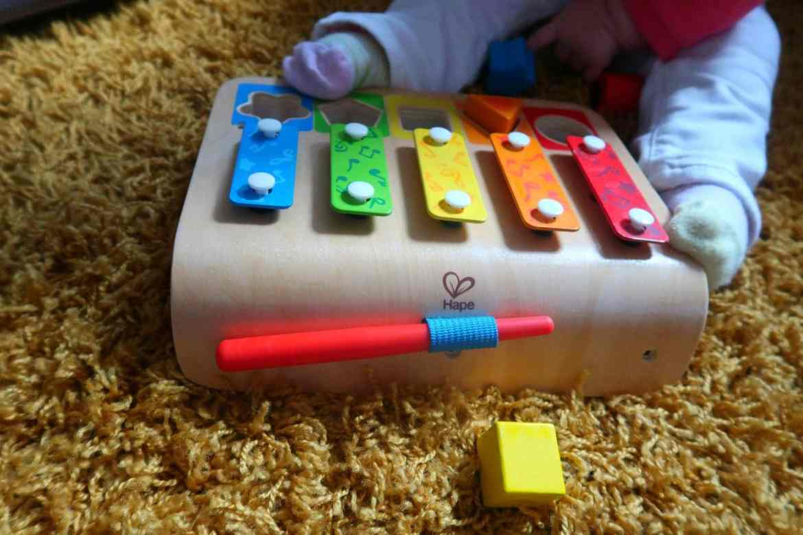 sustainable wooden colourful childrens toy