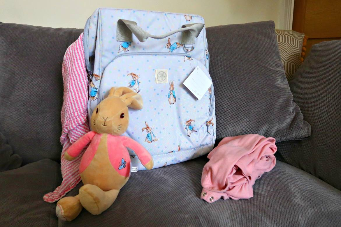 Mothers Day Beatrix Potter baby rucksack Peter Rabbit