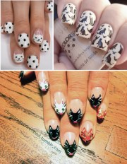 stunning cat nail art paris