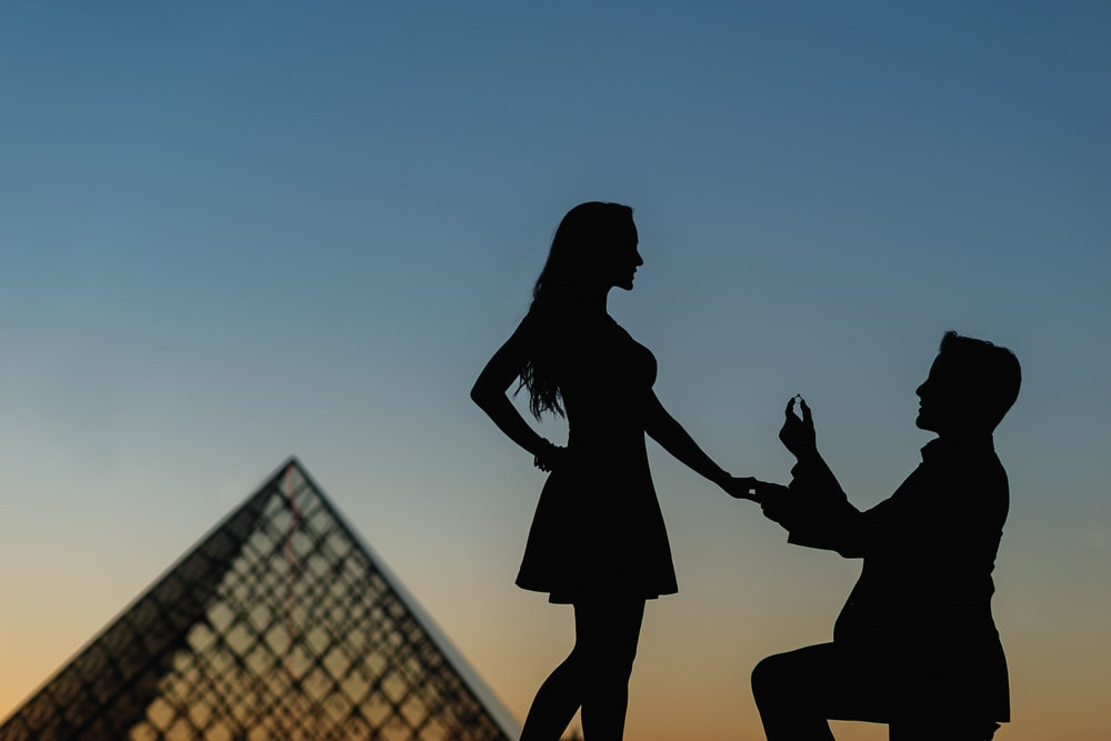 Engagement silhouettes