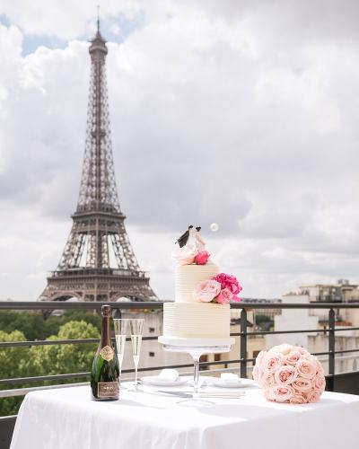 Paris wedding cake - Synies prepares dream wedding cakes for elopements in Paris