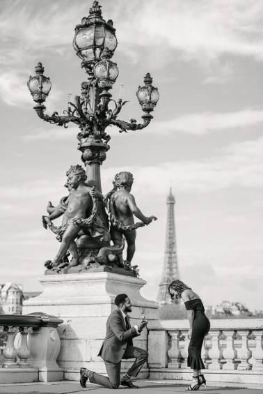 places to propose in Paris - alexander 3 bridge - live proposal