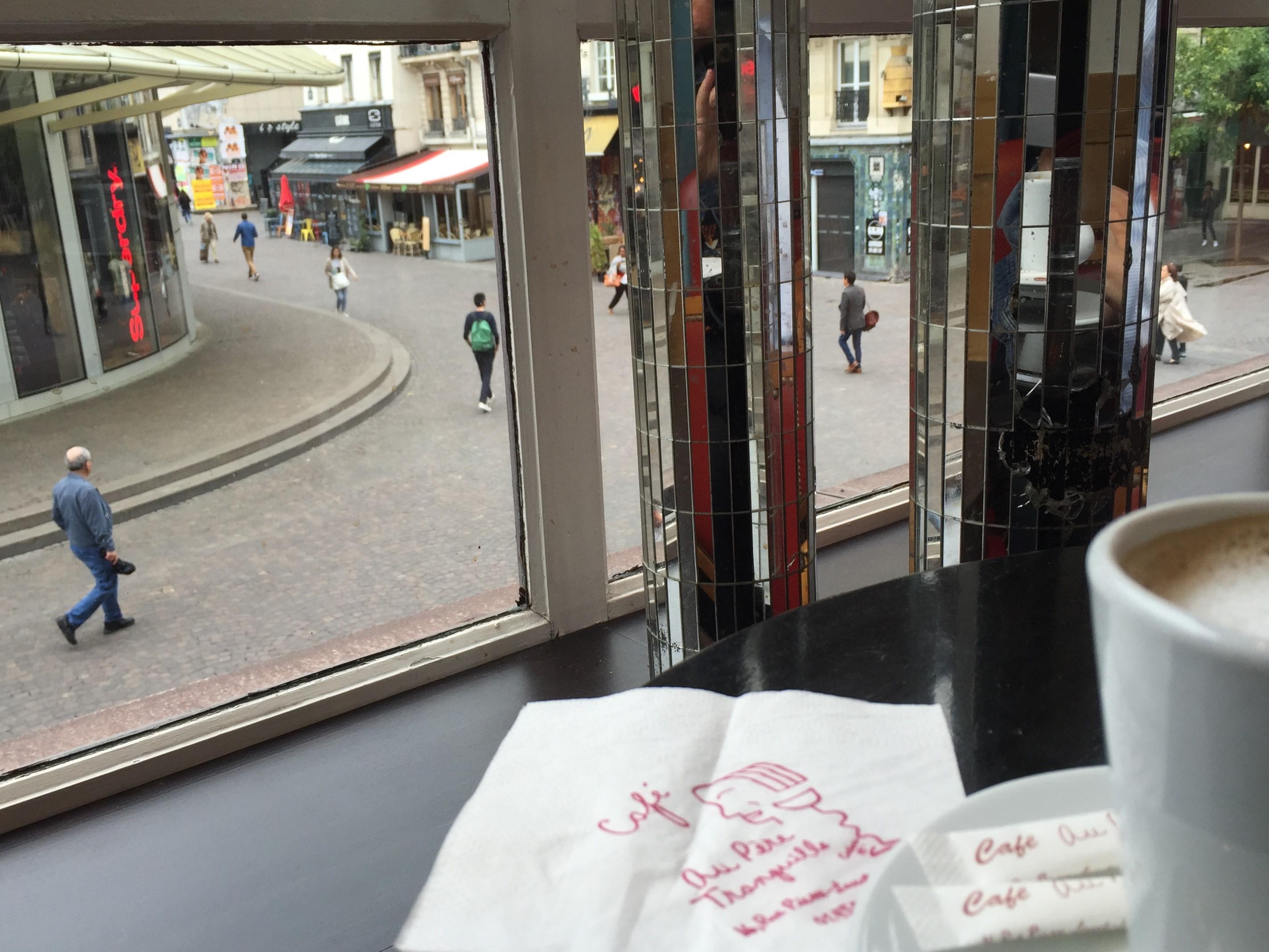 cafe au pere tranquille the paris train