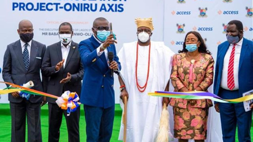 CSR: Access Bank Commissions Road to Contain Traffic in V/Island, Lekki