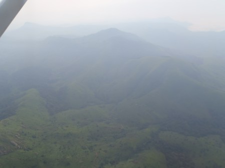 A picture of the terrain from the flight in.