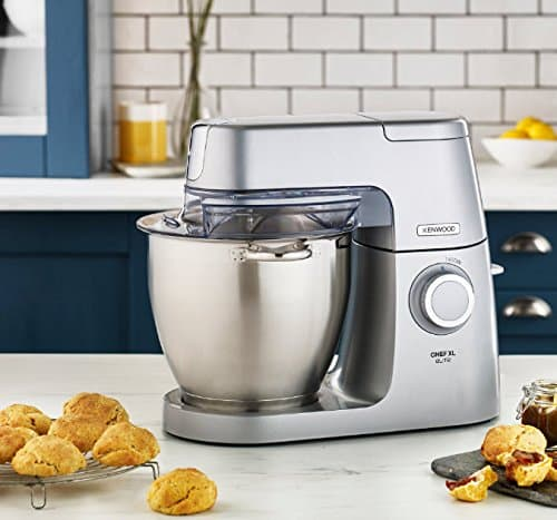 Kenwood Chef Elite XL Stand Mixer for Baking Powerful Large Food Mixer with K beater Dough Hook Whisk and 67 Litre Bowl 1400 W KVL6100S Silver 0 0