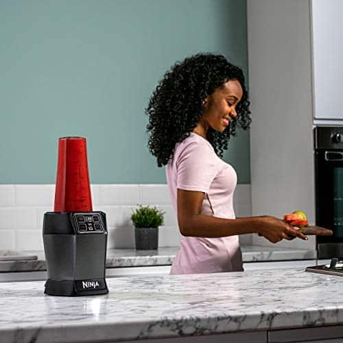 Ninja Blender with Auto iQ BN495UK 1000W 2 x 700ml Cups BlackSilver Tritan 1000 W 700 milliliters Black Silver 0 4
