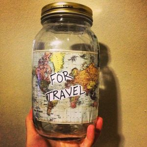 save money travel jar