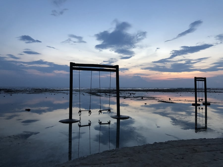 gili trawangan swing sunsets