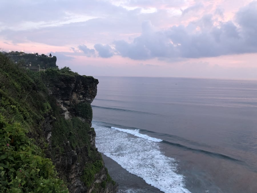 uluwatu temple at sunset