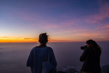 table mountain sunset cape town
