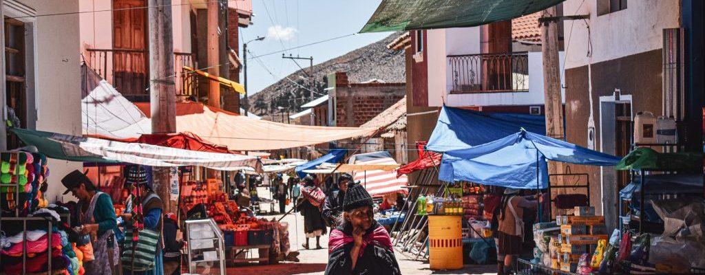 tarabuco market bolivia