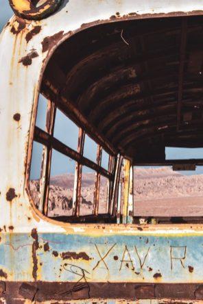 san pedro de atacama chile abandoned bus
