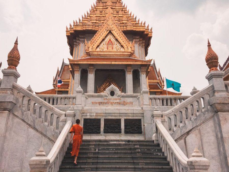 Bangkok Thailand temple monk