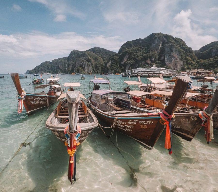 koh phi phi thailand boats