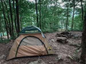 ozark national forest hawksbill crag dispersed camping