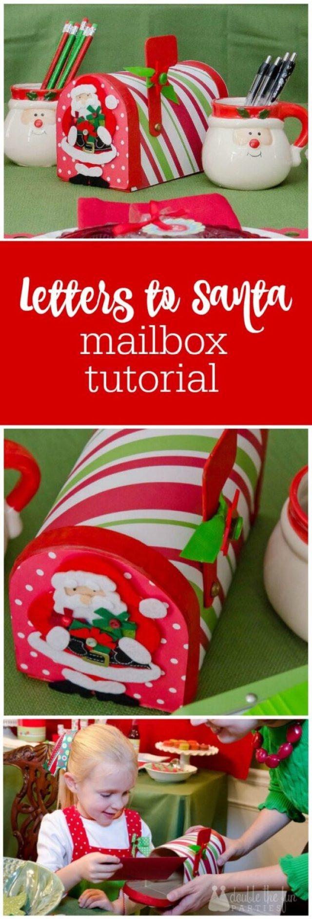 Santa Diy Mailbox Tutorial By The Party