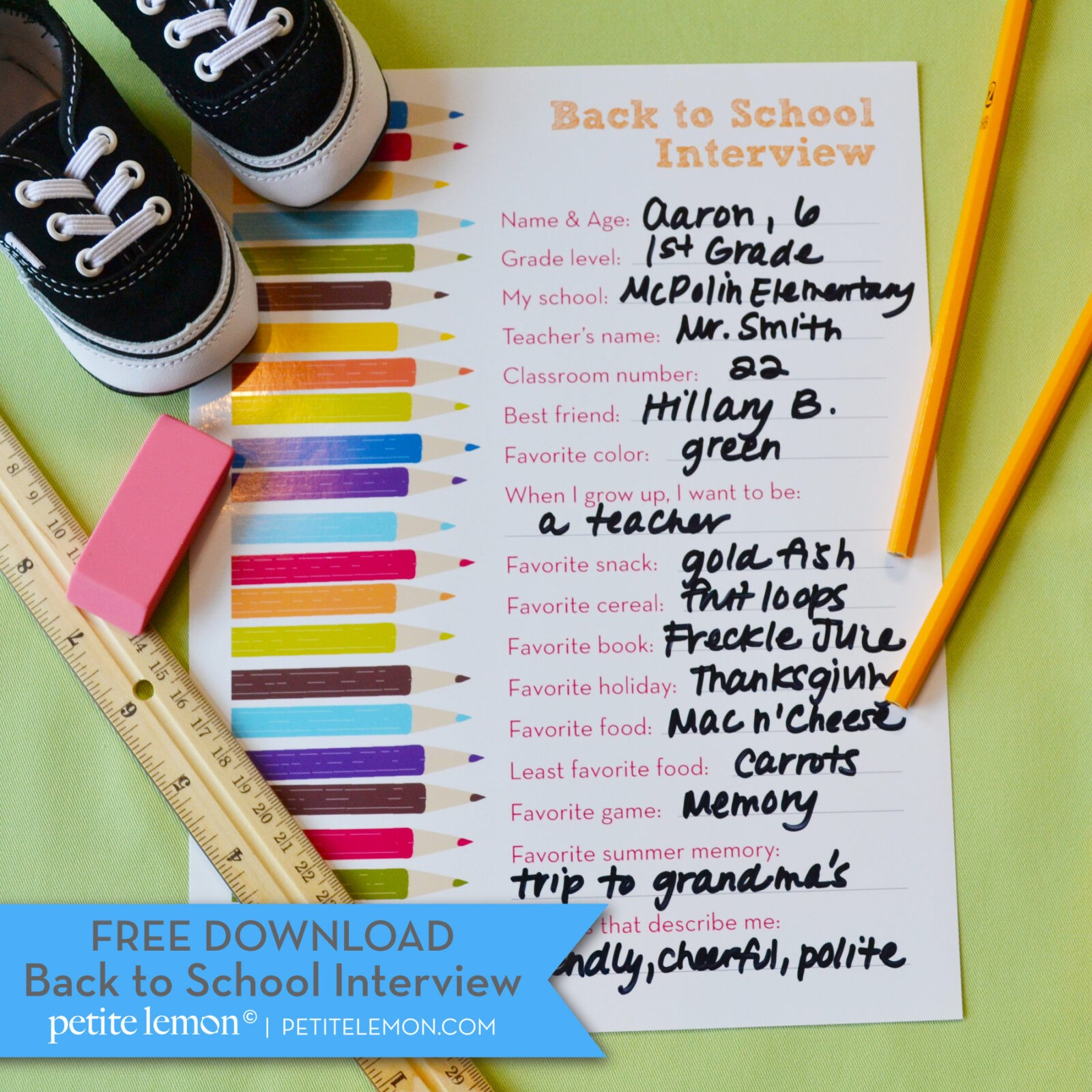 Freebie Friday Back To School Free Printables