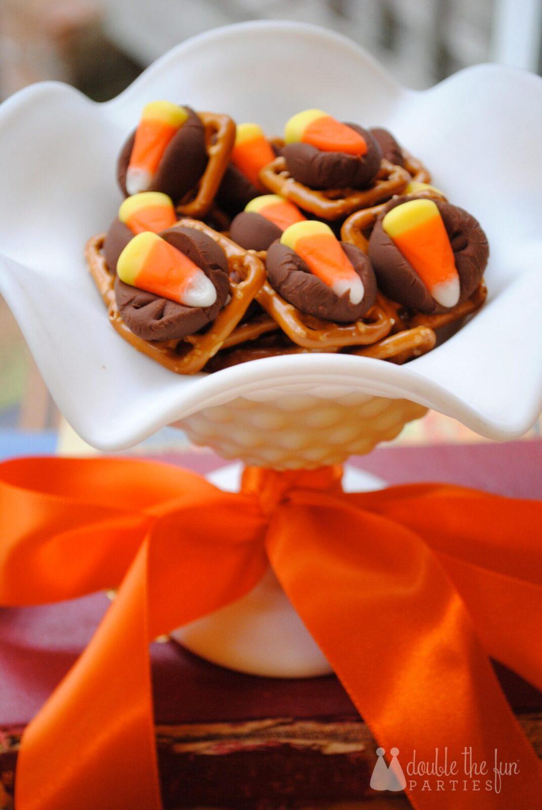 Recipe Halloween Pretzel Hugs Hershey Kiss Treats