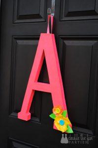 Tutorial: Neon Party Front Door Decoration