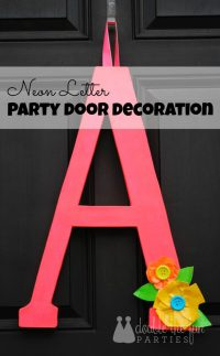 Neon Party Front Door Decoration by Double the Fun Parties ...