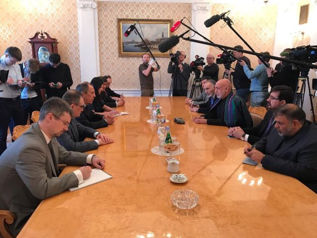 kARZAI IN mOSCOW