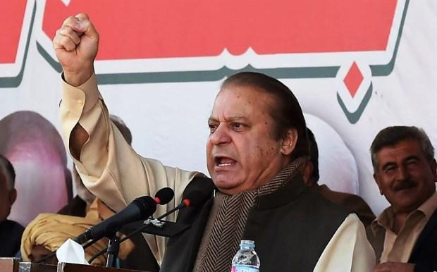 Former Pakistani Prime Minister Nawaz Sharif