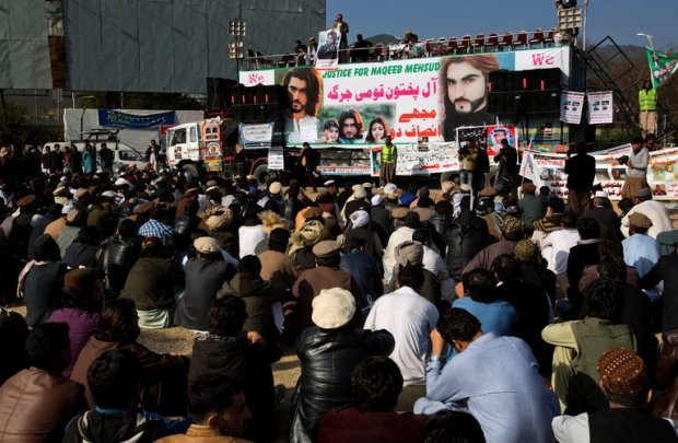 "Demonstrators in Islamabad, Pakistan, last week. The police shooting of Naqeebullah Mehsud, an aspiring model, was ""the tipping point"" for ethnic Pashtuns angry about years of mistreatment by the state, a Pakistani newspaper editor said. Credit B.K. Bangash/Associated Press"